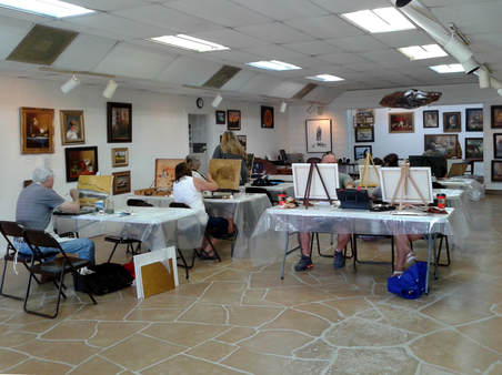 Oil Painting Class, Llano Art Gallery