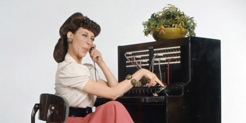 Lily Tomlin playing Ernestine The Telephone Operator